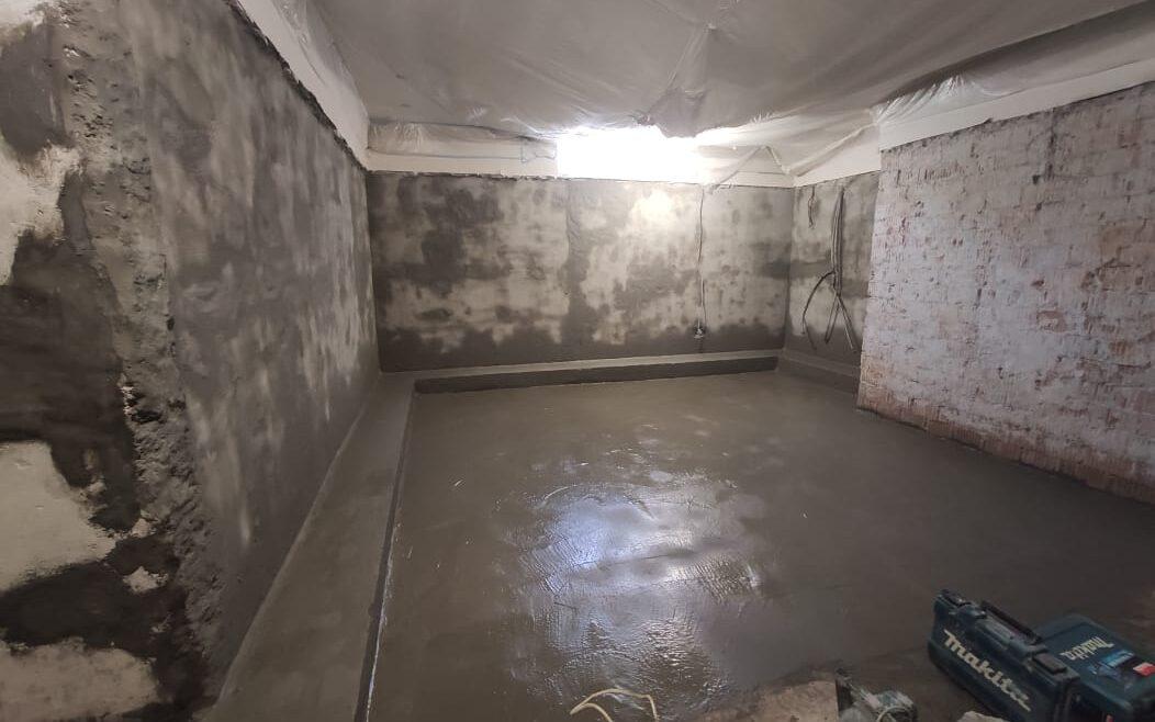 Завершены работы по гидроизоляции цокольного этажа в Павлово