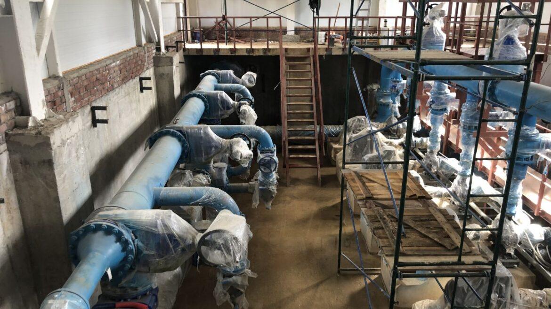 Произведены работы по гидроизоляции ВЗУ